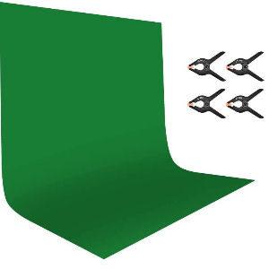 Fondo verde con abrazaderas para croma