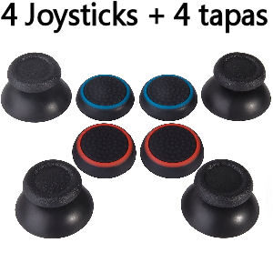 Joystiks analógicos y tapas para joysticks de pulgares de mandos de consolas