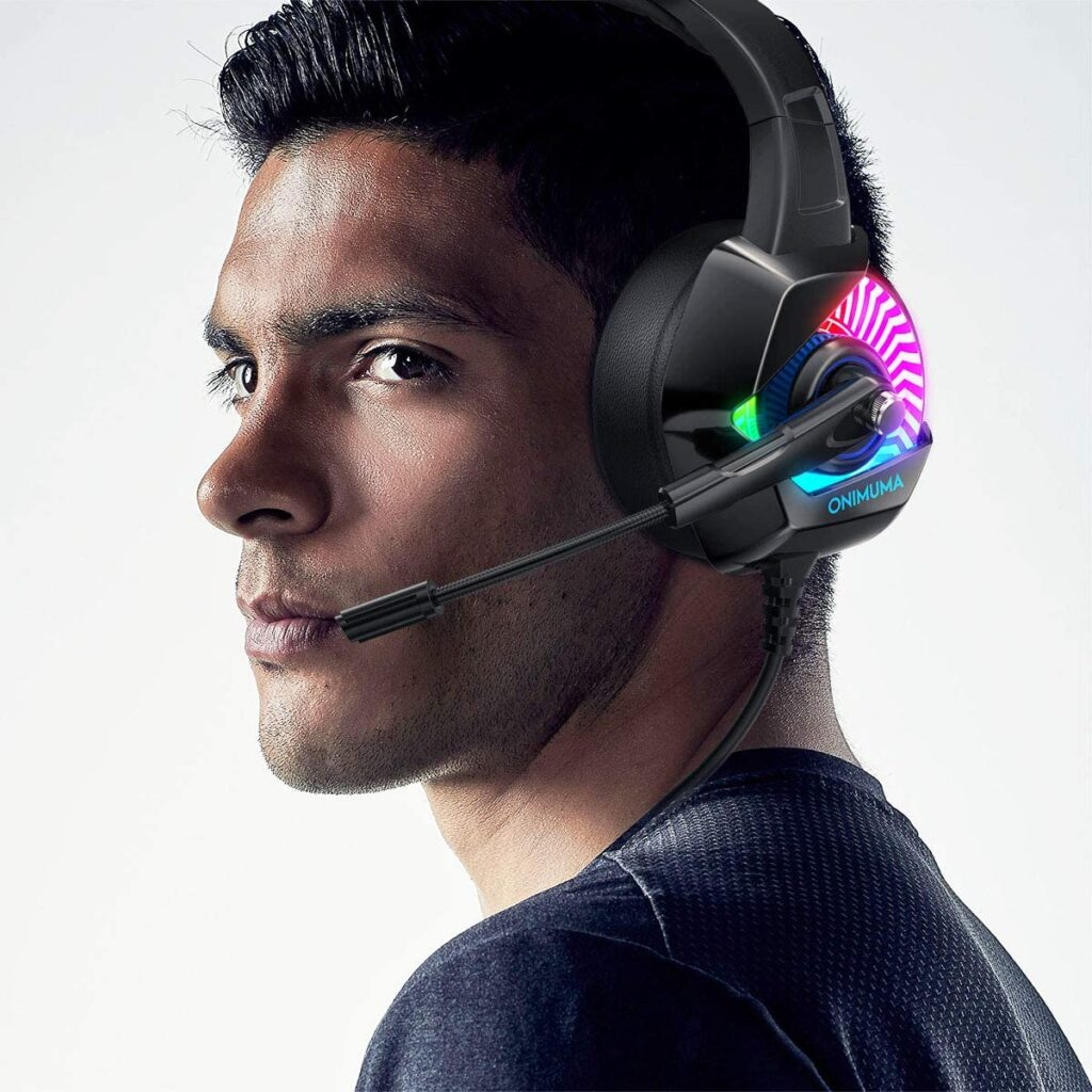 Auriculares gaming para gamers con luces LED