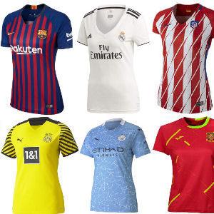 Camisetas de fútbol y selecciones internacionales