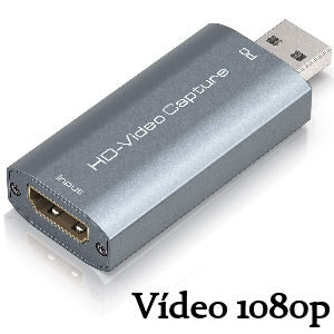 Capturadora de vídeo 1080p para streaming