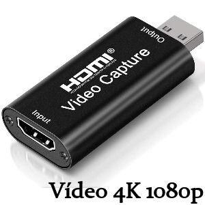 Capturadora de vídeo 4K HDMI a USB 2.0