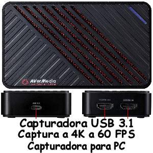 Capturadora streaming USB 3.1