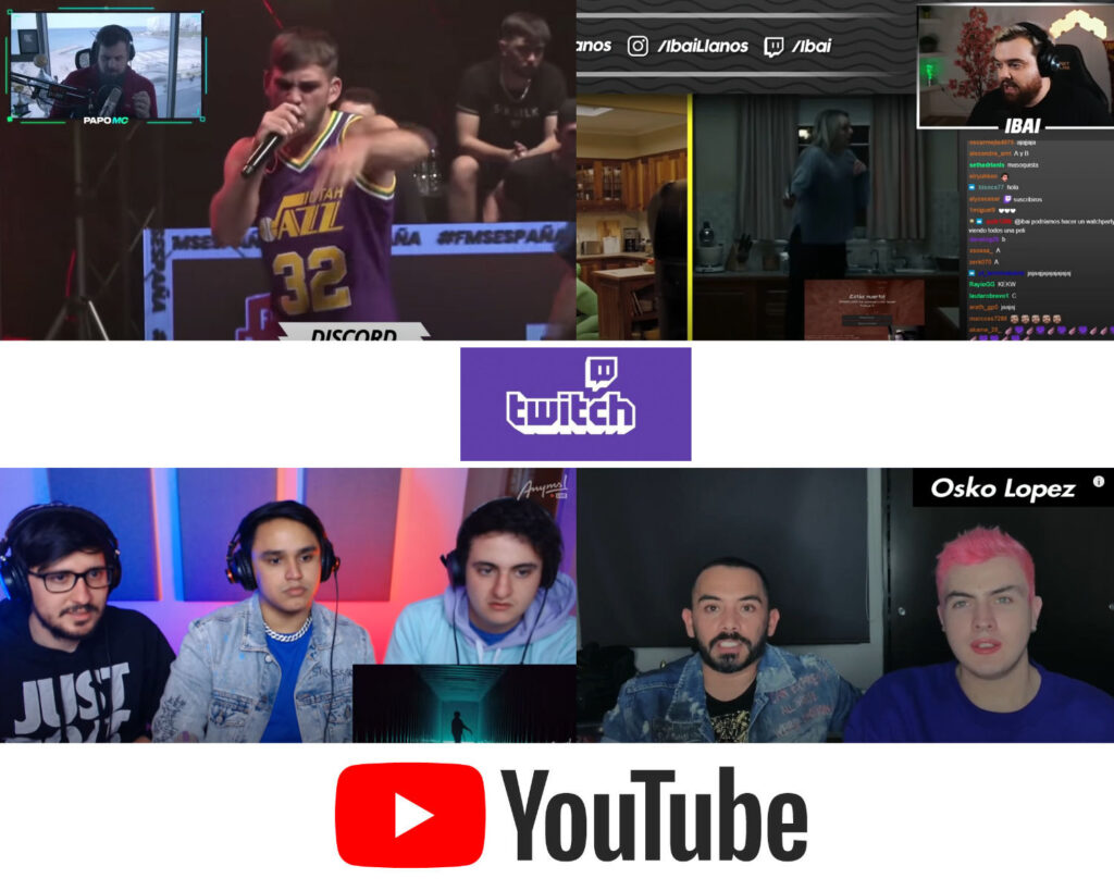 Crea contenido reaccionando en Youtube o Twitch