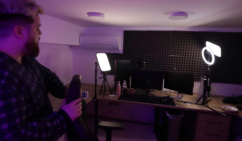El setup de la habitación de Ibai para hacer stream en su nueva mansión