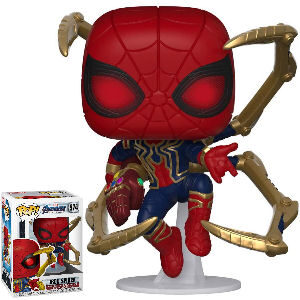 Funko Pop Endgame Iron Spider con guante, Marvel Avengers Endgame