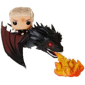 Funko pop Daenerys con dragon, funko de la madre de dragones, funko rompedora de cadenas, funko Targaryen