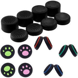 Grips y tapas para joysticks de pulgares para mandos de consolas