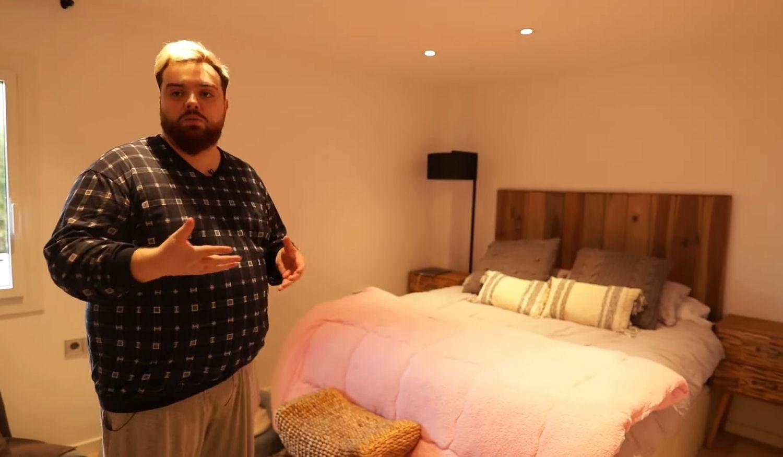 La habitación de G3 jefa en la nueva mansión de Ibai