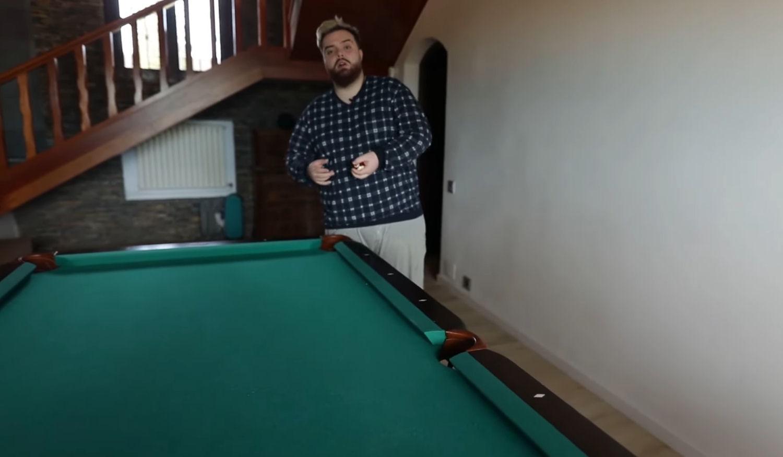 La mesa de billar de Ibai de la nueva mansión