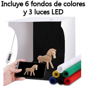 Lightbox para realizar fotos a productos y joyas, kit de cabina de estudio fotográfico con 6 fondos de colores