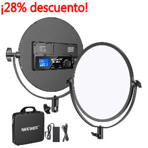 Luz redonda para set up, Foco de 30W bicolor 3200 a 5600K regulable