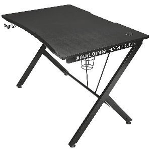 Mesa gaming con bastidor de acero y tablero de madera DM