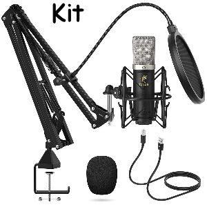 Micrófono Tonor de condensador con brazo incluido