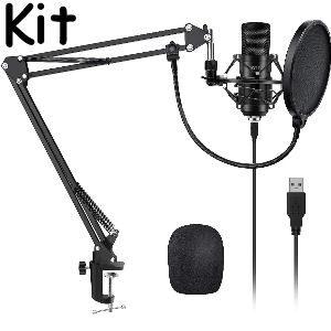 Micrófono de condensador profesional para ordenador
