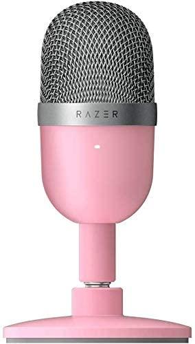 Micrófono de pie rosa Razer reclinable