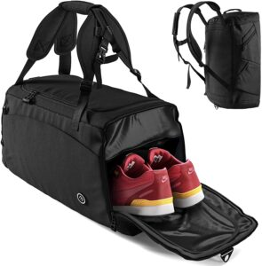 Mochila de deporte con bolsillo para zapatos separado