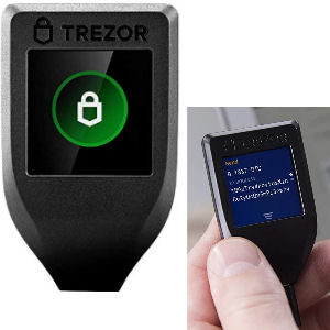 Monedero Trezor Model T con pantalla táctil para guardar criptomonedas por USB