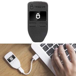 Monedero Trezor One para guardar criptomonedas en frío, guarda tus Bitcoins, Ethereum, ER20 y más criptomonedas de forma segura