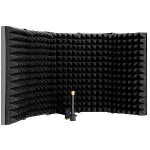 Pantallas acústicas aislantes para micrófonos