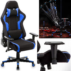 Silla gaming de tela barata reclinable