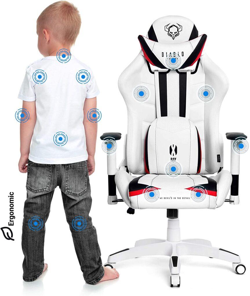 Silla gaming para niños reclinable