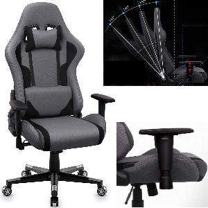 Silla gaming reclinable barata 135 grados 125 kg.