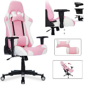 Silla gaming rosa reclinable