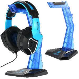 Soporte para auriculares azul