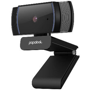 Webcam 1080p con enfoque automático y micrófono con reducción de ruido